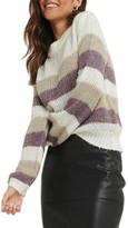 NA-KD Na Kd Stripe Balloon Sleeve Sweater