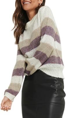 NA-KD Stripe Balloon Sleeve Sweater