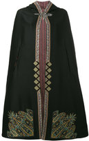 Etro embroidered hooded cape - women - Silk/Cotton/Polyester/Wool - 38