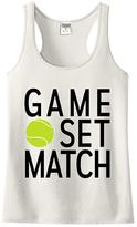 Urban Smalls Cream 'Game Set Match' Racerback Tank - Toddler & Girls