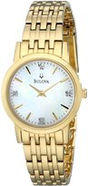 Bulova Women's 97P103 Diamond Classic tone Watch