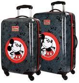 Disney Hello Mickey Luggage Set, 68 cm, 97 liters, Black (Negro)