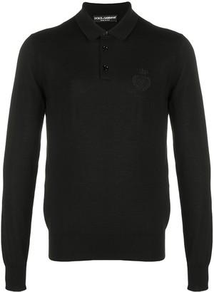 Dolce & Gabbana Embroidered Logo Polo Shirt