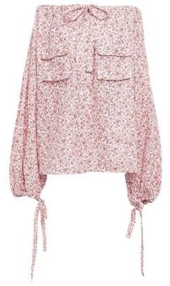 Zimmermann Off-the-shoulder Floral-print Linen-gauze Top
