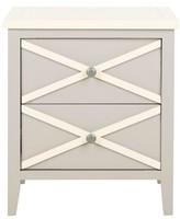 Safavieh Flora Side Table Gray/White