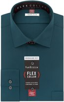 Van Heusen Men's Flex Collar Regular Fit Solid Spread Collar Dress Shirt