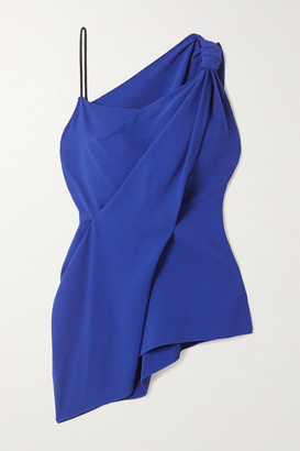 Roland Mouret Goxhill Knotted Draped Crepe Top
