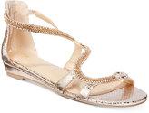 Thalia Sodi Clara Snake-Print Detail Wedge Sandals, Only at Macy's
