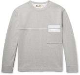 Marni Appliquéd Double-Faced Cotton-Jersey Sweatshirt