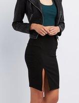 Charlotte Russe Slit Bodycon Pencil Skirt