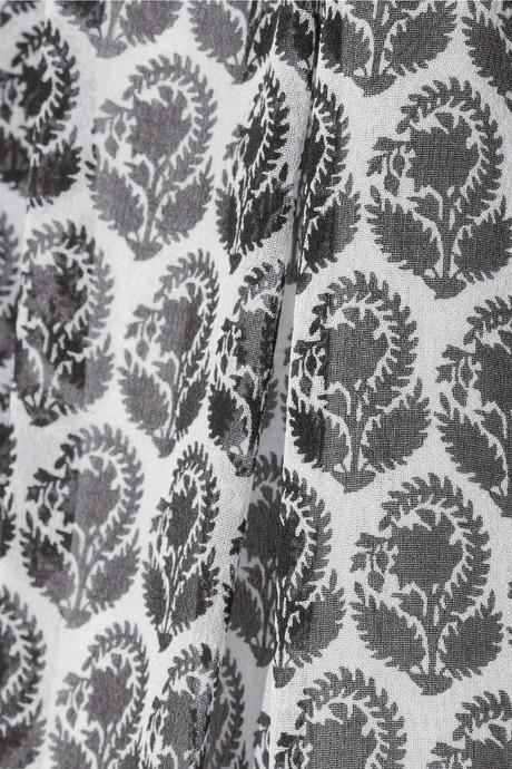 Diane von Furstenberg Bryn printed silk-chiffon blouse