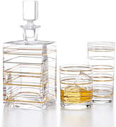 Martha Stewart Collection Glass Barware with a Twist, Created For Macy's