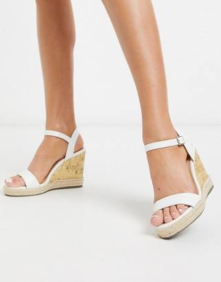 New Look wedges in white
