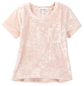 Ten Sixty Sherman Short Sleeve Velvet Pocket Tee (Big Girls)