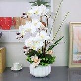 Artificial Flower Mesmj Mesmj Artificial Flowers Home Decor Wedding Bouquets Orchid Ceramic Vases White