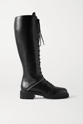 Giuseppe Zanotti Nevada Leather Knee Boots - Black