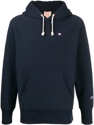 Champion Drawstring Logo Patch Hoodie