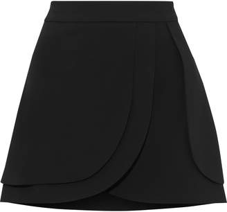 Alice + Olivia Nicolina Layered Crepe Mini Skirt