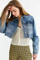 Urban Outfitters Frayed Cropped Trucker Jacket
