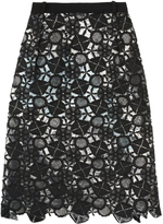 Preen by Thornton Bregazzi Latex Lace Lined Skirt