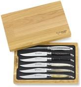 Laguiole en Aubrac Mixed-Horn Steak Knife Set, Set of 6