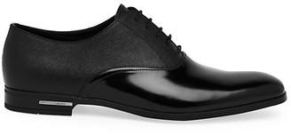 Prada Spazzolato Saffiano Leather Oxford Loafers