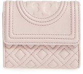 Tory Burch Women's 'Mini Fleming' Quilted Lambskin Leather Wallet - Beige