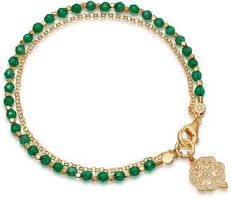 Astley Clarke Green Onyx Four Leaf Clover Biography Bracelet