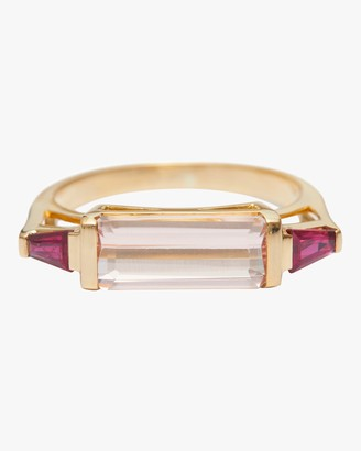Yi Collection Morganite And Ruby East West Ring