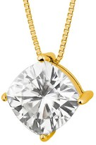 Charles & Colvard Forever Brilliant 2.00 CT. T.W. Forever Brilliant® Cushion Moissanite Solitaire Prong Set Pendant in 14K Yellow Gold