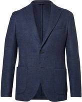 Altea - Blue Bouclé Wool, Silk And Cashmere-blend Blazer