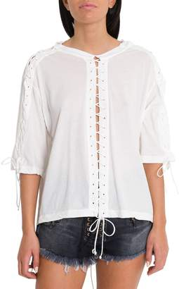 Taverniti So Ben Unravel Project Lace-up Tee