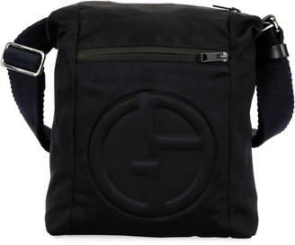 Giorgio Armani Men's Logo-Embossed Crossbody Bag