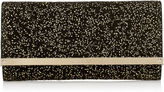 Jimmy Choo MILLA Black Suede Gold Dotted Accessory Clutch Bag