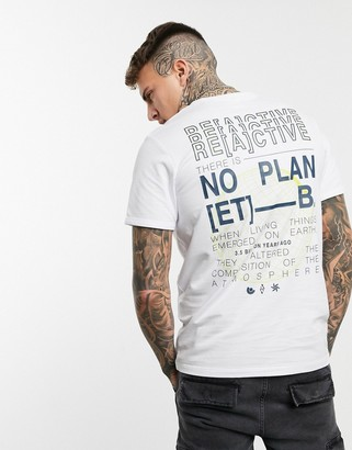 Jack and Jones Core oversize fit back print graphic t-shirt in white