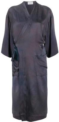 Tanaka Tie-Dye Wrap Midi Dress