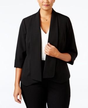 Kasper Plus Size Open-Front Soft Blazer