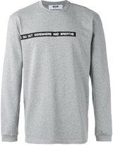 MSGM quote print sweatshirt - men - Cotton - XL