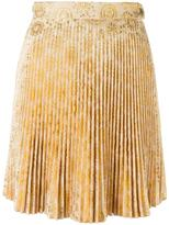 Antonio Berardi pleated mini skirt - women - Acrylic/Polyester - 40
