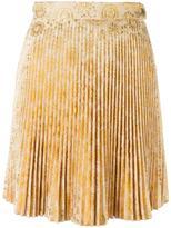Antonio Berardi pleated mini skirt - women - Acrylic/Polyester - 40