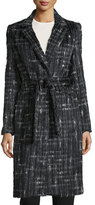 Yigal Azrouel Long-Sleeve Tailored Trench Coat, Jet/Multi