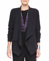Eileen Fisher Lightweight Boiled Wool Jacket, Charcoal