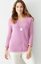 J. Jill Lightweight Open-Stitch Sweater