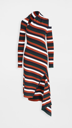 Monse Stripe Sliced Long Sleeve Knit