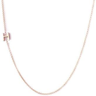 Maya Brenner Asymmetrical Letter Necklace - H