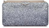 Jimmy Choo ELLIPSE Navy and Silver Coarse Glitter Dégradé Clutch Bag
