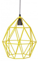 Kidsdepot KidsDepot - Yellow Wire Hanging Lamp - yellow | metal - Yellow/Yellow