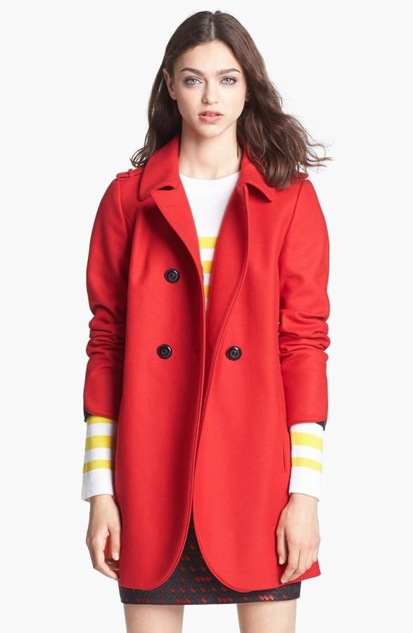 Nordstrom Miss Wu 'Torre' Wool Blend Military Jacket Exclusive)