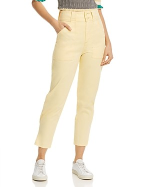 Joie Mirenda High-Rise Straight-Leg Pants