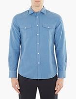 Acne Studios Blue Ewing Ox Western Shirt